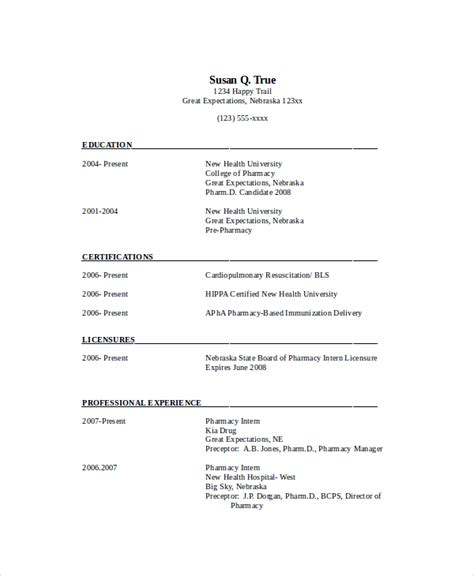 28 pharmacy student resume entry level pharmacist resume