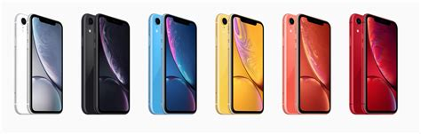 the new iphone xr s six available colours ranked business insider