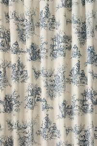 Blue Toile Curtains Toile Blue Made To Measure Curtains