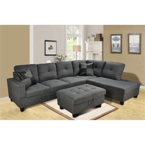 tufted sectional sofa with chaise contemporary grey tufted sectional sofa with chaise back