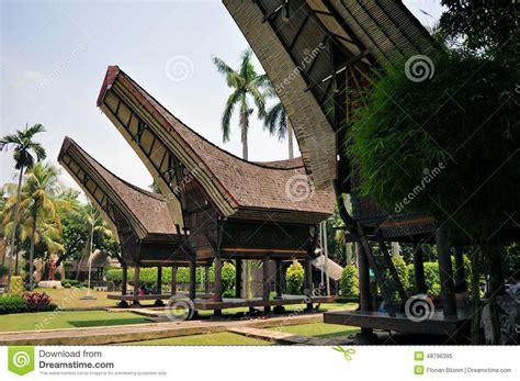 indonesian heritage design traditional house in tana toraja indonesia stock photo