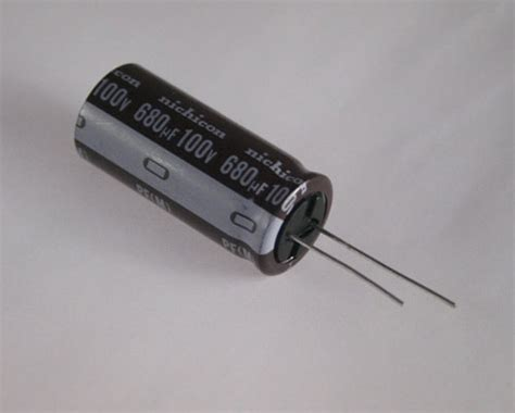 nichicon capacitors singapore new 2 pcs of 680uf 100v radial electrolytic capacitors 105 176 c 680mfd
