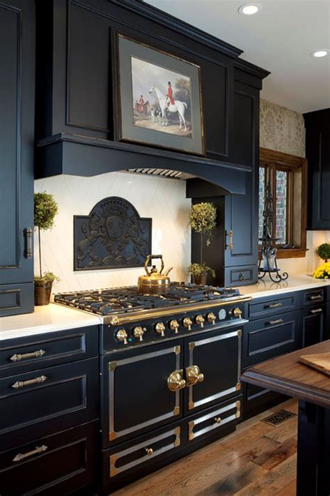 15 Beautiful Black Kitchens The Hot New Kitchen Color Black Cabinet Kitchen Designs