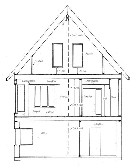 how to draw a house plan step by step how to draw house cross sections