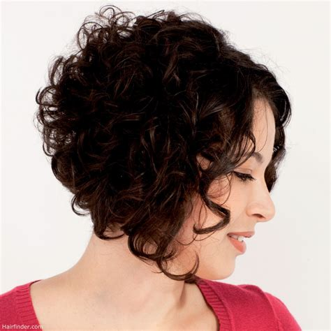 angled bob for curly hair curly plunging bob with a short back angled bob