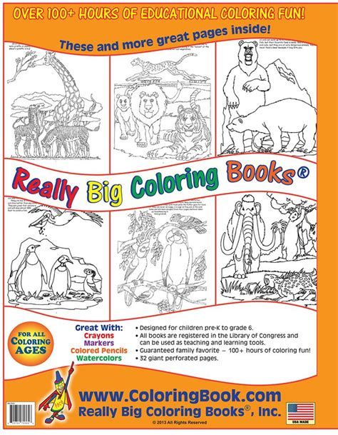 coloring books for cheap wholesale coloring books big book of zoo animals