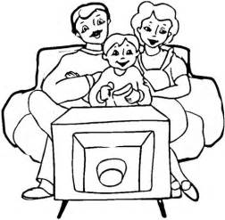Watch Tv Coloring Page Clipart Sketch sketch template