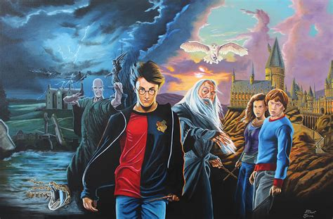 harry potter painting harry potter s world painting by robert steen