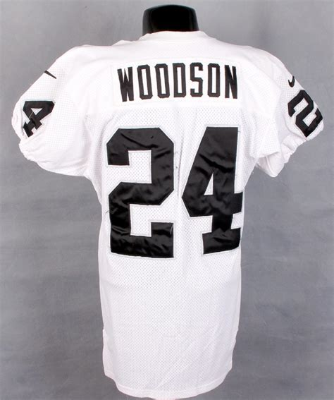 raiders jersey 2000 charles woodson worn raiders jersey 100 authentic authentcation services