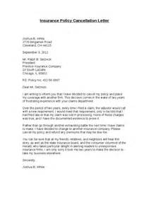 Letter To Cancel Insurance Policy Sle Insurance Policy Cancellation Letter Hashdoc