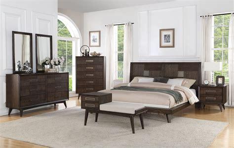 millenium weathered oak platform bedroom set b218 10 k