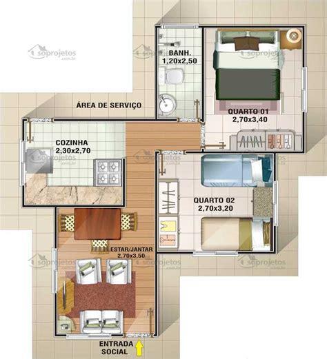 apartamento na planta cinas popular tipo 2 2 quartos c 243 d 48 s 243 projetos