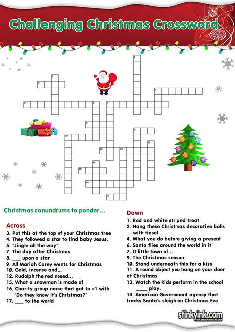 printable christmas games puzzles adults christmas printable crossword puzzles adults directly