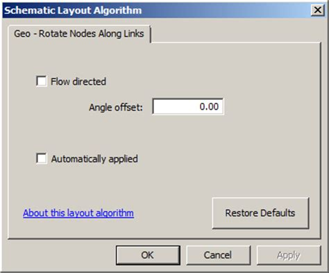 rotate layout view arcgis geo rotate nodes along links layout algorithm properties