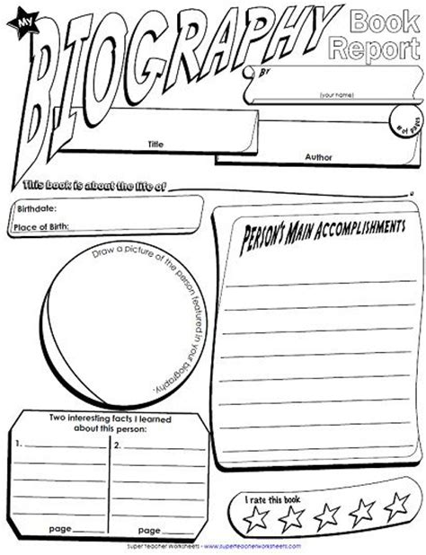 biography report form organizer 12 best images about biography on pinterest report