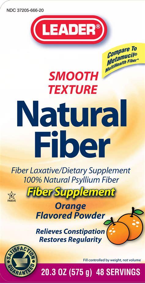 supplement 8g leader fiber cardinal health psyllium husk 3 4g