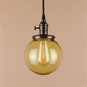Light Pendant Parts Pendant Light 6 Inch Glass Globe Antique By Bluemoonlights