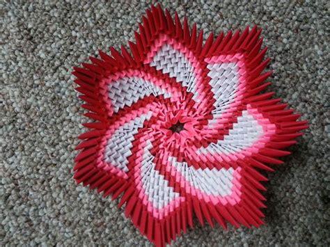 3d Origami Flower - origami spiral flower bowl https www etsy listing