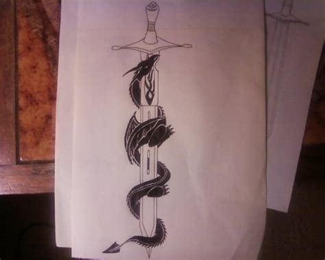 tattoo dragon and sword tribal dragon and sword tattoo design by sarsie09 on