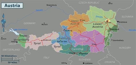 austria on map of world maps of austria map library maps of the world