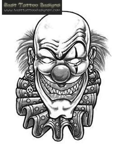joker tattoo designs black white 40 best clown designs
