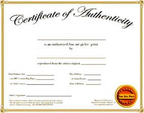 Certificate of authenticity art template free printable authenticity