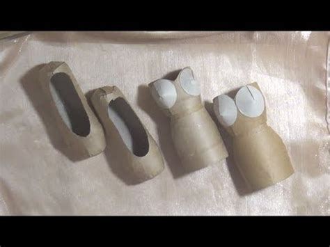 How To Make A Shoe Out Of Paper - ballet slipper shoe and dress tutorials tp roll