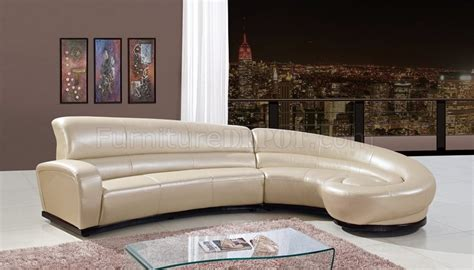 global upholstery u958 sectional sofa in pearl bonded leather by global
