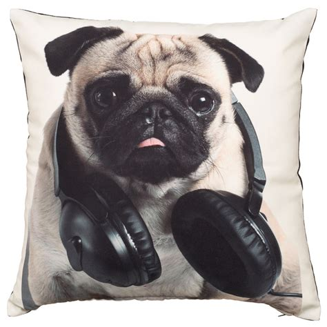 pug cushion uk printed pugs cushion soft furnishings