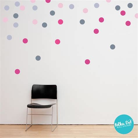 pink polka dot wall stickers pink and gray polka dot wall decals peel and stick