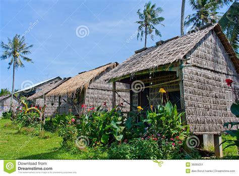 rabbit island cambodia bungalows basic resort on rabbit island in cambodia stock image