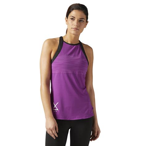 Syncwear Fitness Designed For Wearing Your Nano At The by Reebok Les Mills Tank Purple Reebok Us