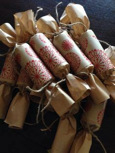 diy vintage look brown paper bon bons christmas crackers