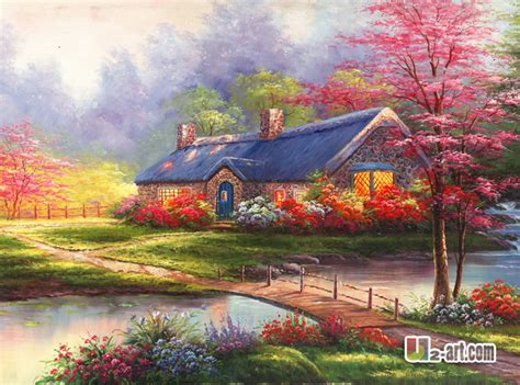 kinkade prints beautiful landscape painting giclee
