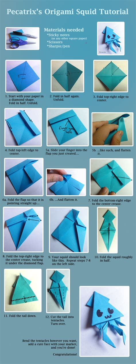 origami tutorial videos origami squid tutorial by pecatrix on deviantart