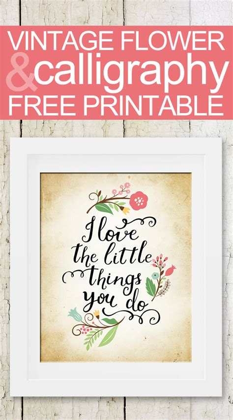 printable girly quotes flowered vintage calligraphy quote mother s day free