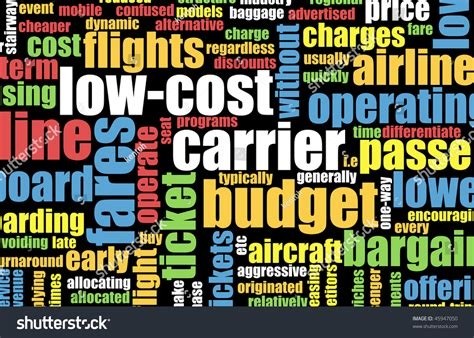 Top Mba Colleges With Low Fees In World by Low Cost Carrier Budget Airline Concept Stock Illustration
