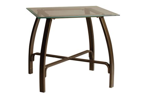 glass and bronze table bronze glass cocktail table 2 end tables at gardner white
