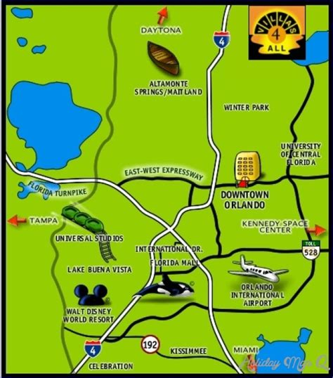 printable orlando area map maps update 21051488 orlando tourist attractions map
