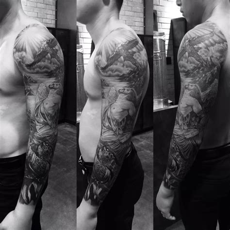 tattoo gallery in huntington beach greek mythology sleeve icarus daedalus and the
