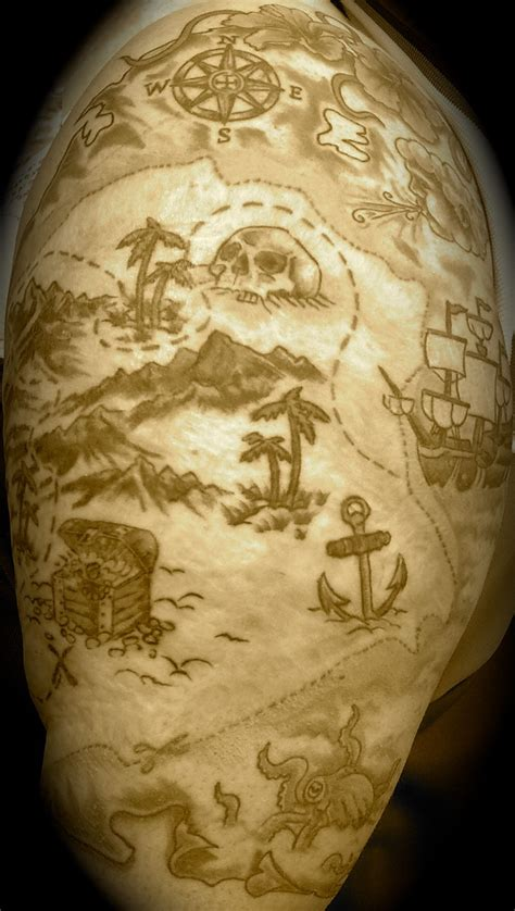 great island tattoo treasure island treasure maps map tattoos