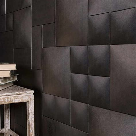 Leather Wall Tiles Leather Wall Tiles Faux Leather Tiles For Stylish Creative Wall Decors Freshome Fresh Embos