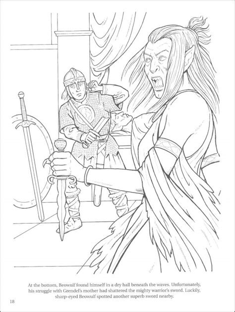 Free Coloring Pages Of Beowulf Beowulf Coloring Pages