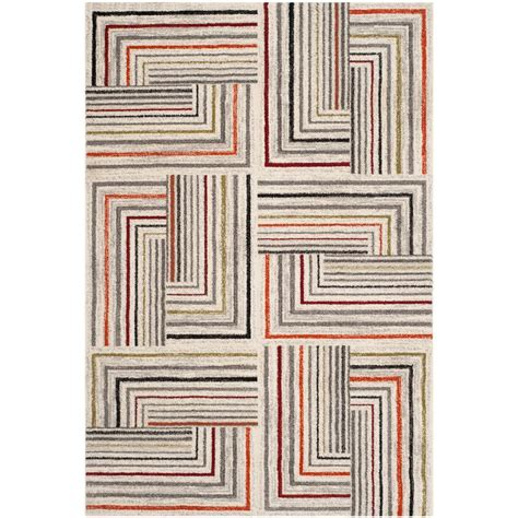 Safavieh Porcello Rug by Safavieh Porcello Ivory Grey 4 Ft X 5 Ft 7 In Area Rug