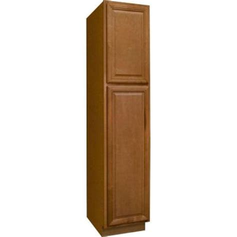 pantry shelves home depot hton bay 18x84x24 in cambria pantry cabinet in harvest