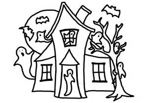haunted house coloring pages line drawing house clipart best