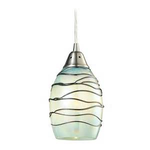 Green Glass Pendant Lights Mini Pendant Light With Mint Green Glass 31348 1mn Destination Lighting