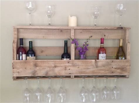 How To Make A Wine Rack From Pallets by Diy Pallet Wine Rack Shelf Wooden Pallet Furniture