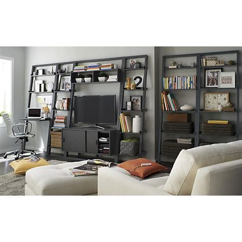 sloane grey 25 quot bookcase i crate and barrel home offices