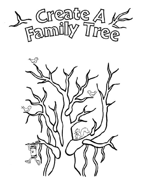 family tree coloring page crayola com